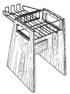 Computer stand design drawing