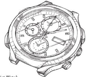 Wrist-watch design drawing